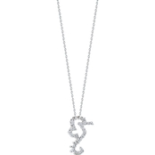 Roberto Coin 18K White Gold Diamond Seahorse Necklace