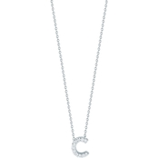 Roberto Coin 18K White Gold Diamond Accent Block Letter C Pendant