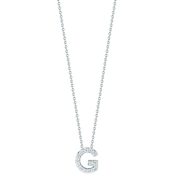 Roberto Coin 18K White Gold Diamond Accent Block Letter G Pendant