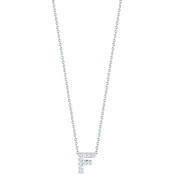Roberto Coin 18K White Gold Diamond Accent Block Letter F Pendant
