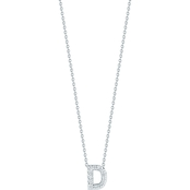 Roberto Coin 18K White Gold Diamond Accent Block Letter D Pendant