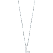 Roberto Coin 18K White Gold Diamond Accent Block Letter L Pendant
