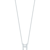 Roberto Coin 18K White Gold Diamond Accent Block Letter H Pendant