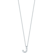 Roberto Coin 18K White Gold Diamond Accent Block Letter J Pendant