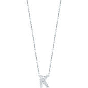 Roberto Coin 18K White Gold Diamond Accent Block Letter K Pendant