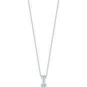 Roberto Coin 18K White Gold Diamond Accent Block Letter I Pendant