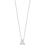 Roberto Coin 18K White Gold Diamond Accent Block Letter A Pendant