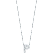 Roberto Coin 18K White Gold Diamond Block Letter