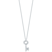 Roberto Coin 18K White Gold Diamond Baby Key Pendant