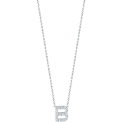 Roberto Coin 18K White Gold Diamond Accent Block Letter B Pendant