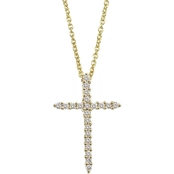 Roberto Coin 18K Yellow Gold Diamond Sliver Cross Pendant