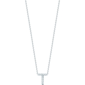Roberto Coin 18K White Gold Diamond Accent Block Letter T Pendant