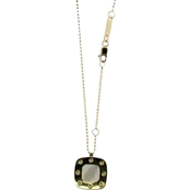 Roberto Coin 18K Yellow Gold Pois Moi Mother of Pearl Square Pendant
