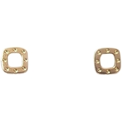 Roberto Coin 18K Yellow Gold Pois Moi Square Earrings