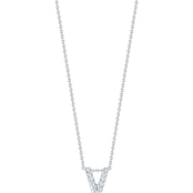 Roberto Coin 18K White Gold Diamond Accent Block Letter V Pendant