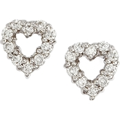 Roberto Coin 18K White Gold 1/4 CTW Diamond Baby Heart Earrings