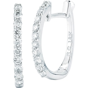 Roberto Coin 18K Gold 1/5 CTW Diamond Baby Hoop Earrings