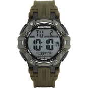 Armitron Men's Sport Digital Chronograph Olive Green Resin Strap Watch 40/8429DGN