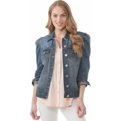 JW Puff Shoulder Denim Jacket