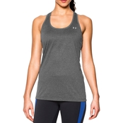 Under Armour Tech Tank Solid Carbon Heather/Metallic Silver