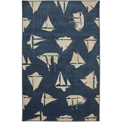 Mohawk Home Blue Boats Rug