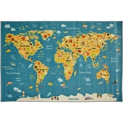Mohawk Home Animal Map Rug