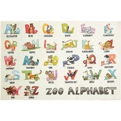 Mohawk Home Alphabet Zoo Rug