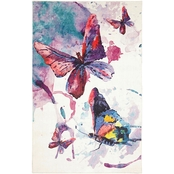 Mohawk Home Watercolor Butterflies Rug