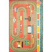 Mohawk Home Race Track Play Rug