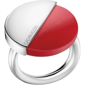 CALVIN KLEIN SPICY RING SSTL WITH RED CORAL STONE SIZE 7