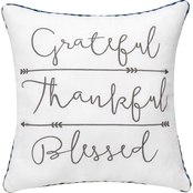 Enchante Grateful Thankful Blessed Pillow