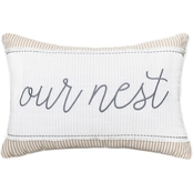 Enchante Embroidered Script Sentiment 14 x 20 in. Pillow