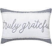 Enchante Embelleshed Embroidered Script Sentiment 14 x 20 in. Pillow