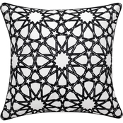 Enchante Sefru Embroidered 18 x 18 in. Pillow