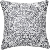 Enchante Mandala Embroidered 18 x 18 in. Pillow
