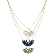 Panacea Tri-Tone Layered Baby Necklace