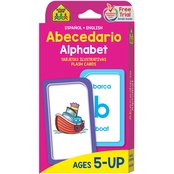 School Zone Bilingual Alphabet Flash Cards