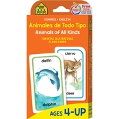 School Zone Bilingual Animals of All Kinds Flash Cards