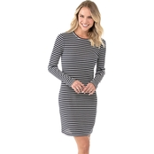 Michael Kors Long Sleeve Striped Tee Dress