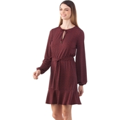 Michael Kors Misses Bud Keyhole Blouson Dress