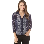 Michael Kors Medallion Scarf Shirt