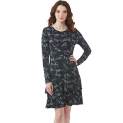 Michael Kors Cobra Crew Neck Flounce Dress