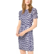 MICHAEL KORS RUCHED SLEEVE DRESS