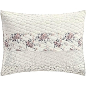 Martha Stewart Collection Textural Floral Stripe Standard Sham
