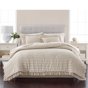 Martha Stewart Collection Seersucker Stripe 8 pc. Comforter Set