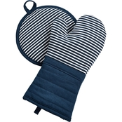 Martha Stewart Collection Pot Holder and Oven Mitt Set