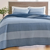 Martha Stewart Collection Nautical Stripe Quilt