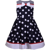 Bonnie Jean Toddler Girls Fit and Flare Dot Dress