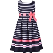 Bonnie Jean Toddler Girls Stripe Border Pull Through Dress