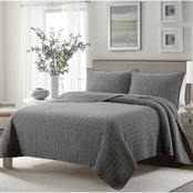 Clover 3 pc. Stone Washed Quilt Set